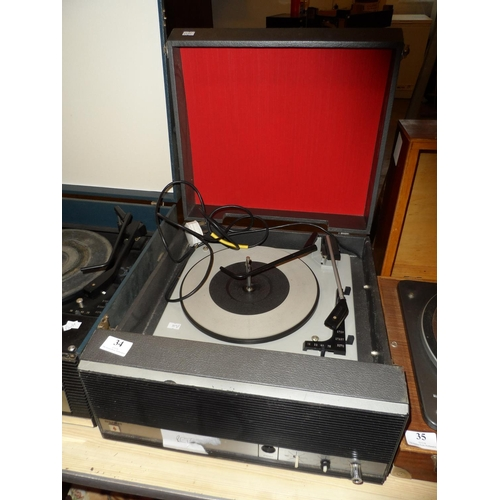 34 - Vintage Bush record player model SRP64 powers up...