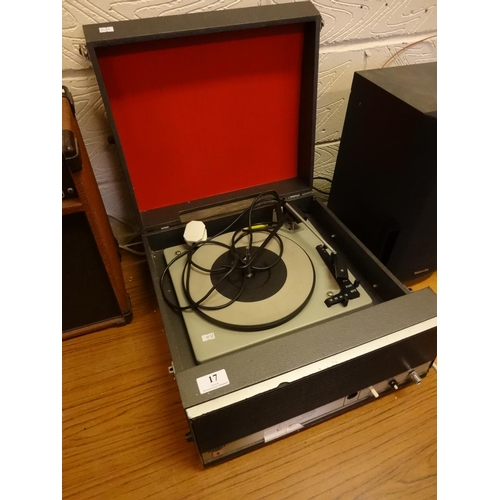 17 - Vintage Bush record player model SRP64 powers up...