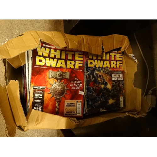 28 - Box of large collection of White Dwarf magazines approximately 60 from 2000's...