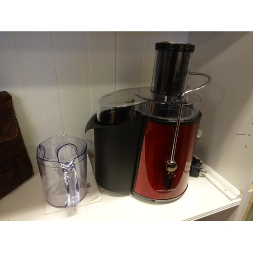 38 - Andrew James Power juicer in working order (Missing brush) with instructions...