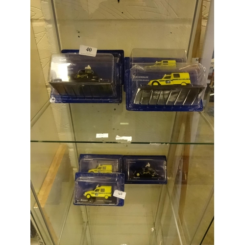 40 - Selection of Michelin cars, Diecast...