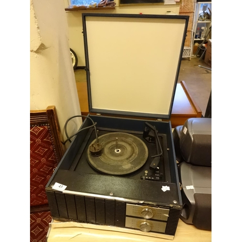 43 - Vintage Marconiphone 4045 record player power up...