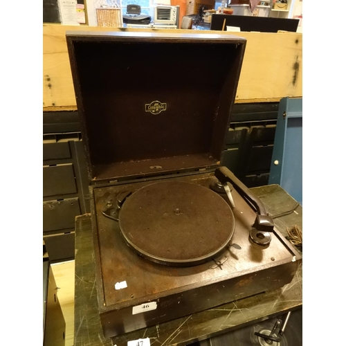 46 - Vintage/Antique Columbia 78RPM record player, not tested selling as spares or repair...