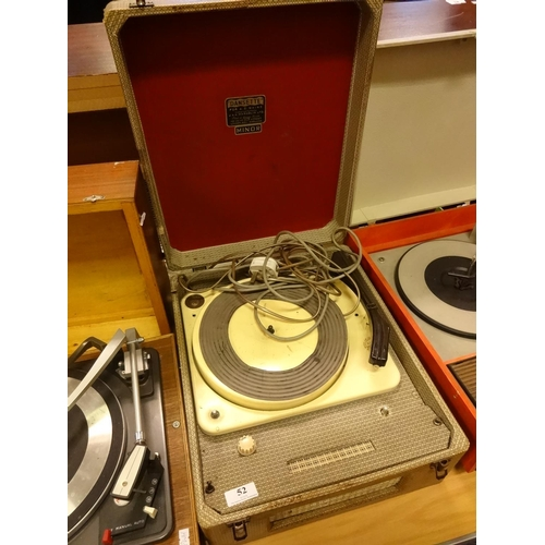52 - Vintage Dansette minor record player spares or repairs...