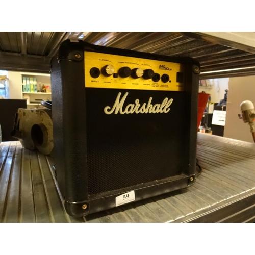 59 - Marshall guitar amp 28cm x 30cm...