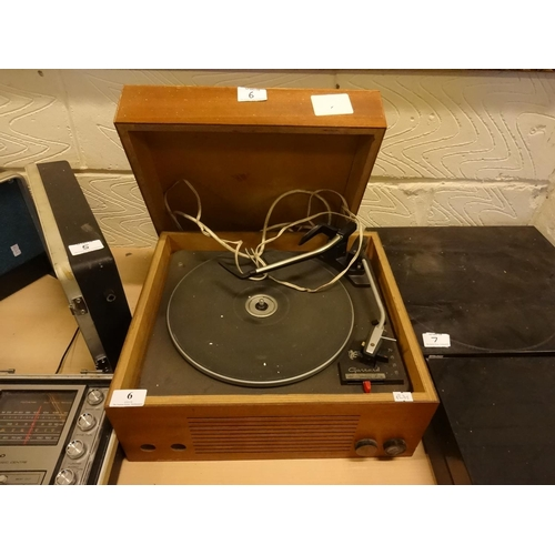 6 - Vintage Garrard 3000 deck record player in a wooden case (spares or repair)...