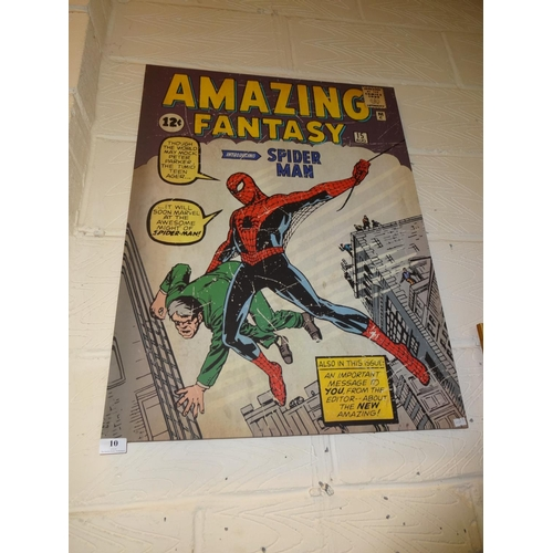 10 - Marvel comic amazing Spider Man canvas 80cm x 60cm...