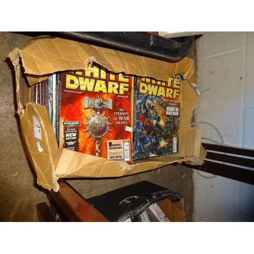 27 - Box of large collection of White Dwarf magazines approximately 60 from 2000's...