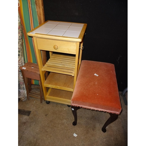 4 - Piano stool and kitchen unit...
