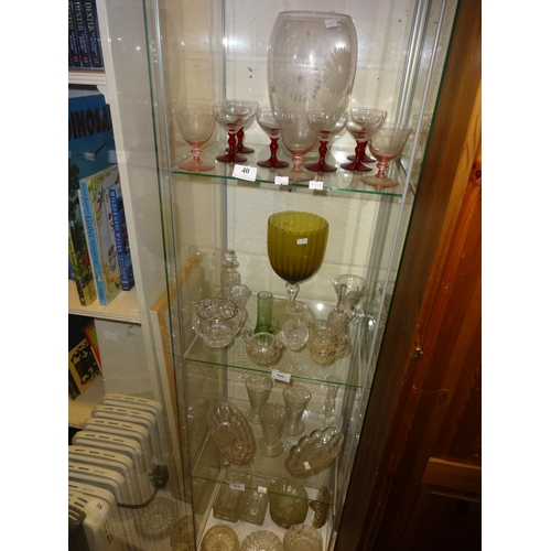 40 - Assorted glassware vases, bowls, lemonade glasses x3, posy pot, small decanter and more...