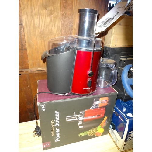 43 - Andrew James Power juicer in working order (Missing cleaning brush) with instructions...
