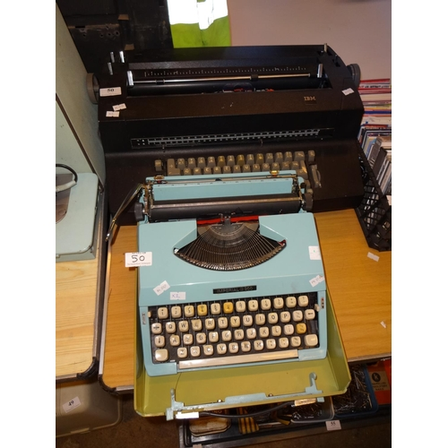 50 - Goodson electric typewriter IBM and an Imperial 200 manual portable typwriter...
