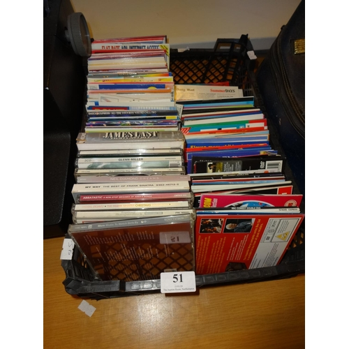 51 - Quantity of Cds and Dvd mainly from the daily mail approximately 150 in total...