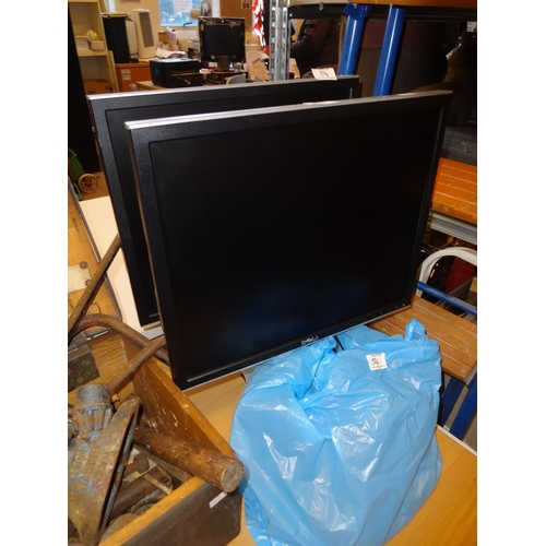 54 - 2x Dell Monitors with leads both 19