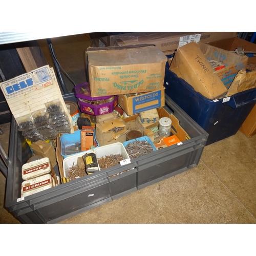 55 - Very large quantity of upholstery equipment, tools, thread, nails and many other items from upholste...