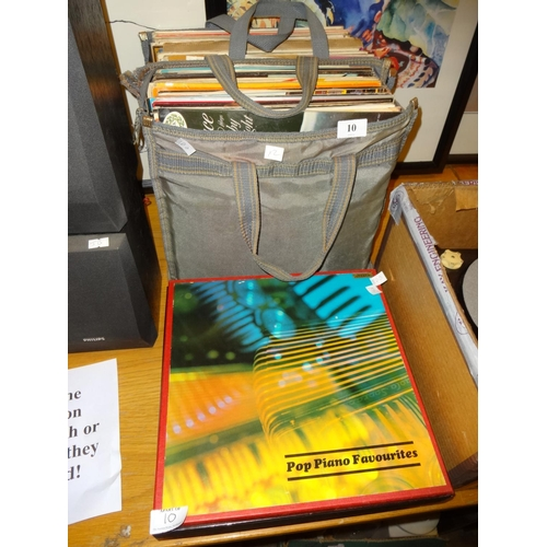 10 - 2x Bags of approximately 80 vintage LPs of varous artists...