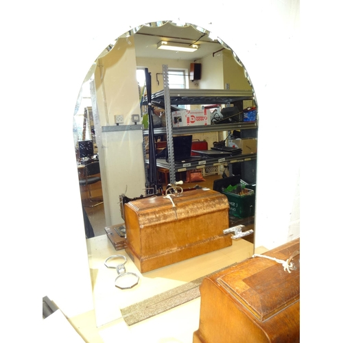 5 - Bathroom art deco mirror 64cm w x 87cm h...