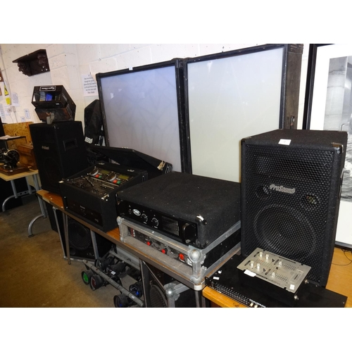 7 - Quantity of Disco equipment includes 3x Light Boxes, 2 Amps, Pro sound 400 and MDJ1, 5 Speakers 2x P...