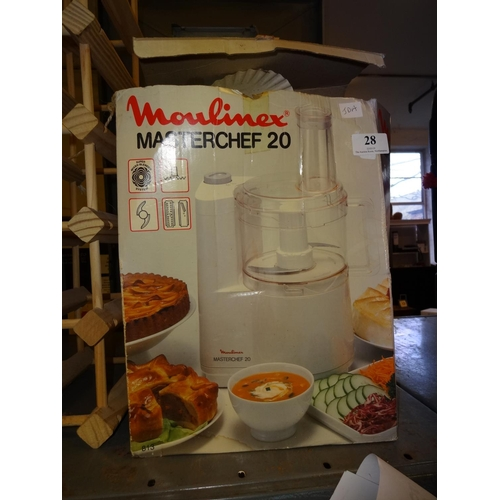 28 - Moulinex master chef 20 food mixer...