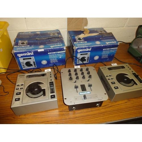 14 - 2 CGJ-10 gemini cd decks not tested...