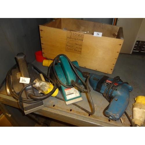 36 - 110 Volt Makita 1902 planer, Elu 110 volt planer and Bosch 1124.0 drill 110 volt all working...