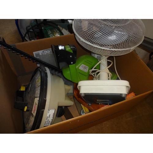 52 - Box of mix item,include fan hedge trimmer,wallpaper stripper etc...