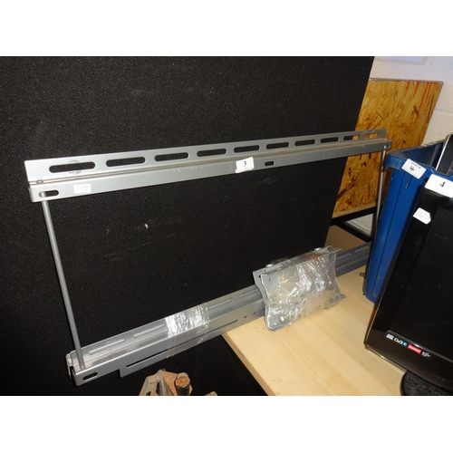 3 - Large metal wall mounted bracket for T.V...