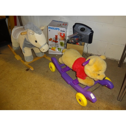 11 - Rocking horse and Winnie the pooh ride on...