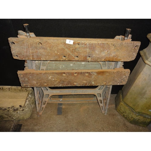 2 - Black and Decker workmate...