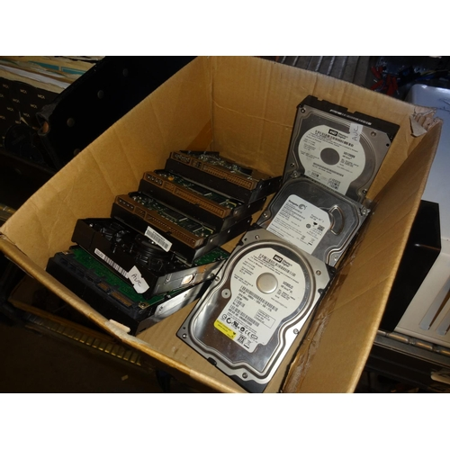 35 - Box of hard drives 8 in total of various capacity from 80GB to 1000GB...