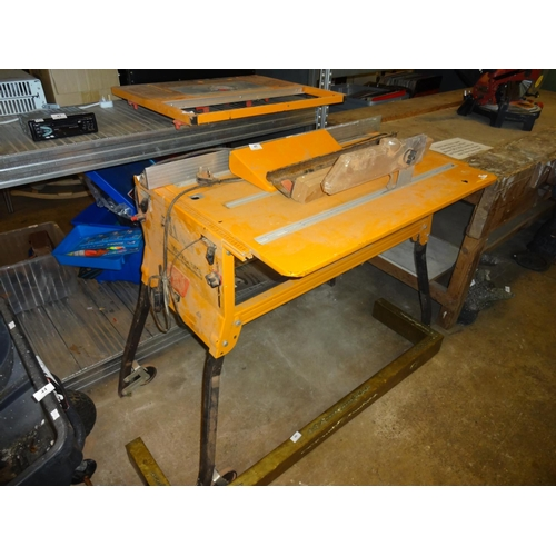 45 - Triton 2000 workcentre 90cm H without accessories on top, approximately 110cm W x 66cm Deep on wheel...