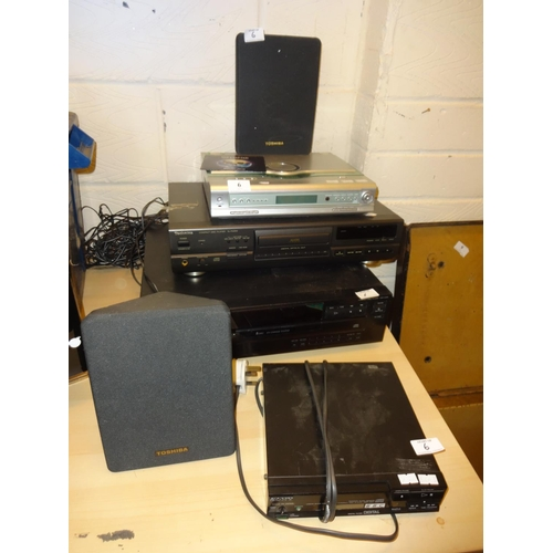 6 - (Ref 3) Quantity of CD players plus an ices stereo with toshiba speakers in working order 4 items in...