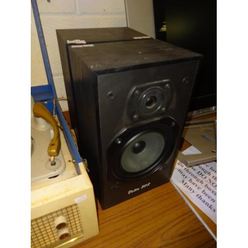 14 - Pair of Wharfedale Delta 30.2 speakers in working order...