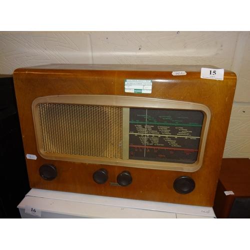 15 - Vintage Cossor melody maker valve radio...