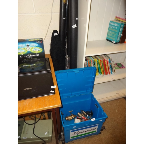 26 - Quantity of fishing gear including Shakespear box, rods, reels etc...
