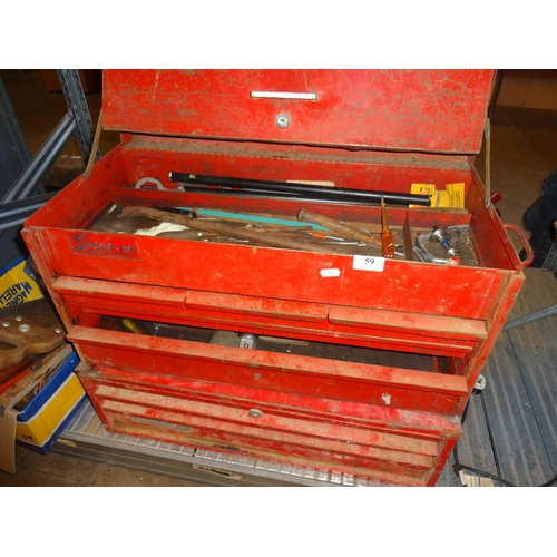 59 - Snap on tool box with contents...