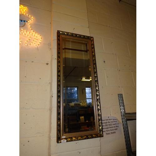 10 - Gilt framed rectangular wall mirror...