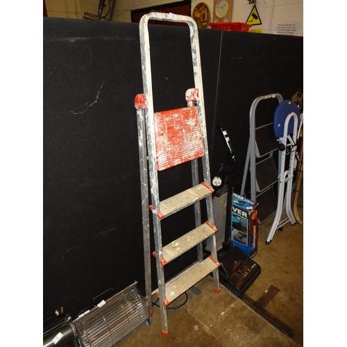 2 - Set of metal step ladders...
