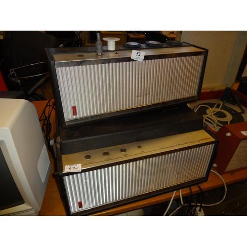 52 - Vintage Bush record player plus a stereo transistorised amp by Bush...