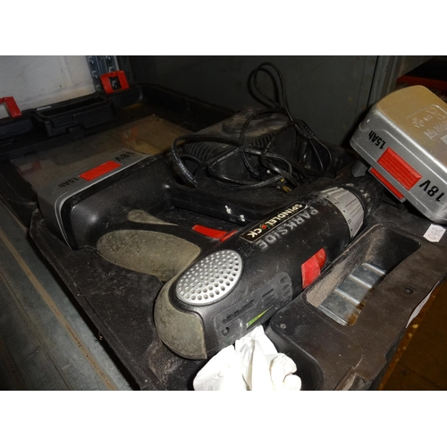 16 - Parkside cordless drill in box, working order...