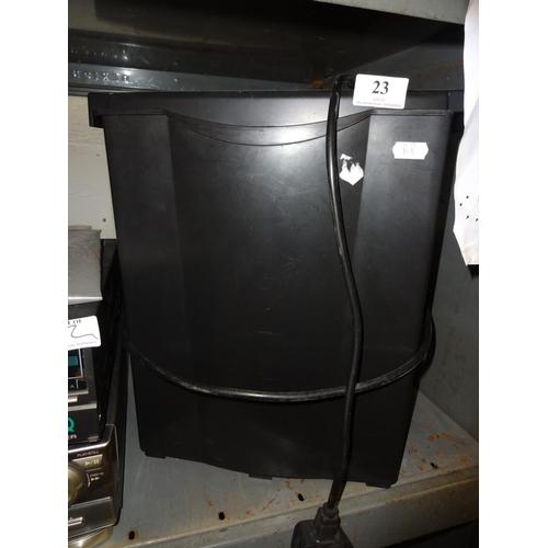 23 - Black paper shredder, not tested sold as seen...