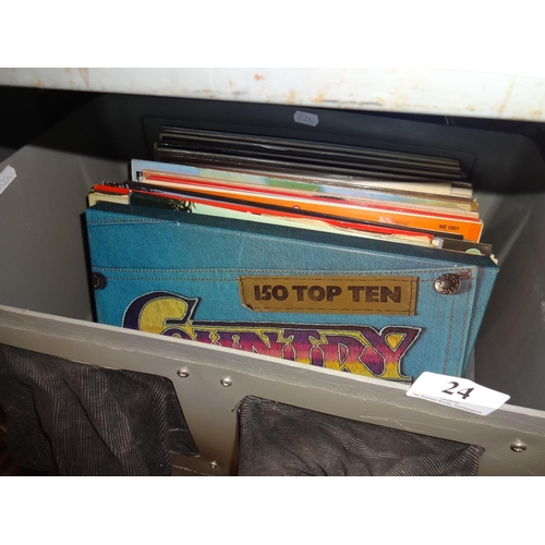 24 - Box of various Lps mainly easy listening...