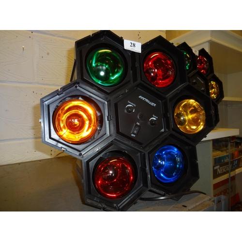 28 - (Ref 1) Disco lights, light to sound in working order...