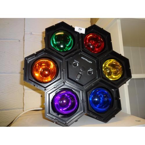 29 - (Ref 2) Disco lights, light to sound in working order...