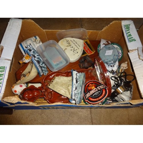 49 - Box of odds including pub related items...