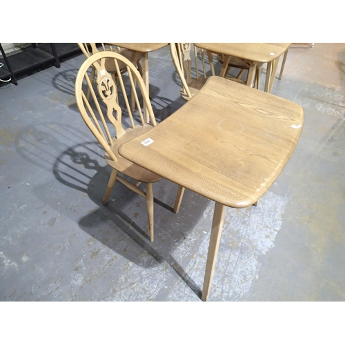 705 - Ercol elm dining table extension on three legs W: 70 cm (OPTION ON NEXT LOT)...