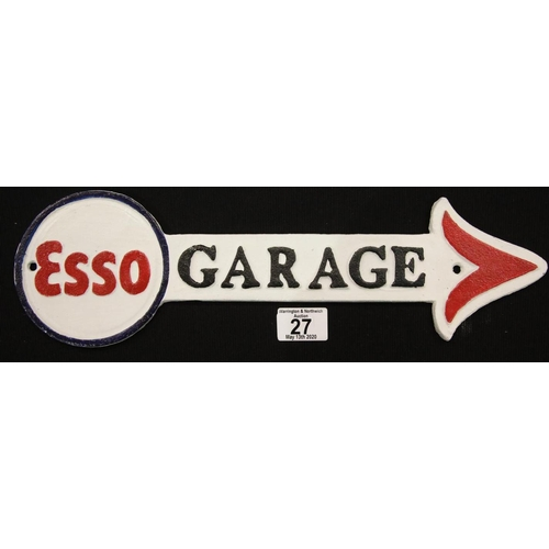 8 - Cast iron Esso sign W: 41 cm. P&P Group 2 (£18+VAT for the first lot and £2+VAT for subsequent lots)...