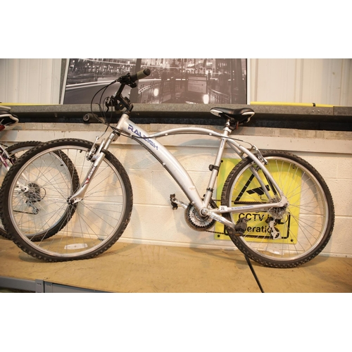 28 - Raleigh 21 speed Shimano mountain bike with front suspension. This lot is not available for in-house...