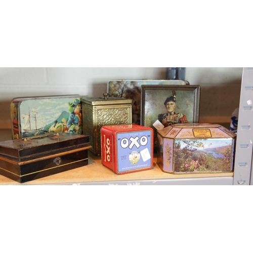 32 - Collection of biscuit tins. P&P Group 1 (£14+VAT for the first lot and £1+VAT for subsequent lots)...