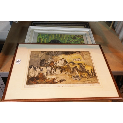 48 - Framed prints and pictures. This lot is not available for in-house P&P, please contact the office fo...